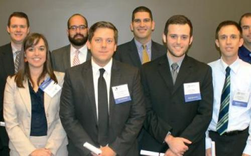 Photo of the new designees conferred at the October 2014 Chapter Meeting.