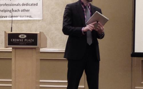 Zachary Scherer of The Spectrum Financial Group, Inc., leads a discussion about retirement planning at the January 2014 Chapter Meeting.