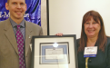 Monica Almy is presented the President's CPCU Excellence Award